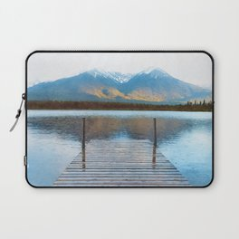 Lake reflections watercolor painting #2 Laptop Sleeve