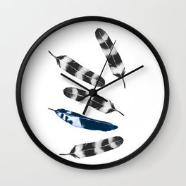 Feather Drift Wall Clock