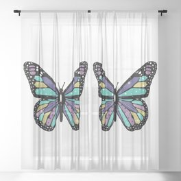 Butterflies are Free Sheer Curtain