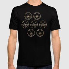 Circle Sections Black Mens Fitted Tee MEDIUM