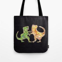 T-Rex Fight Tote Bag