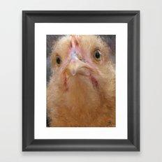 Chicken Face Framed Art Print