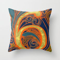 Nouveau Six Throw Pillow