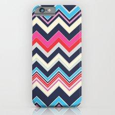 Navy Pink Chevron iPhone 6s Slim Case
