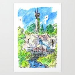 Rapunzel Tower Art Print