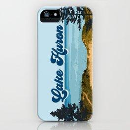 Lake Huron Retro iPhone Case