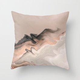 Marble Dream: a digital dreamscape Throw Pillow