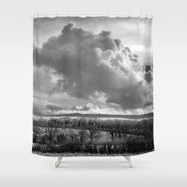 Towering Clouds Over Wiltshire Shower Curtain