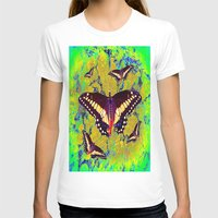 butterflies T-shirts featuring butterflies  by  Agostino Lo Coco