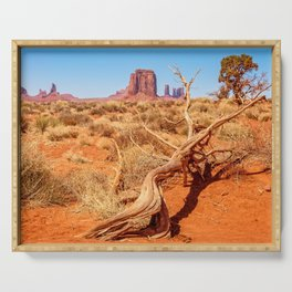 That way to Artist Point -Monument Valley Serving Tray