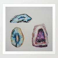 geode Art Prints featuring Geode by GEORGIA TURNER
