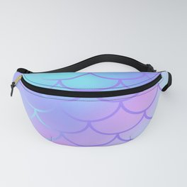 Turquoise & Purple Mermaid Fanny Pack