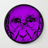literature Wall Clocks featuring Outlaws of Literature (William S. Burroughs) by Silvio Ledbetter