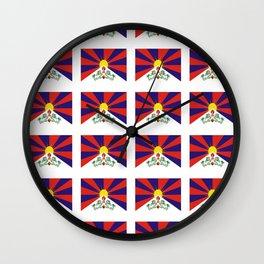 flag of thibet,བོད,tibetan,asia,china,Autonomous Region,everest,himalaya,buddhism,dalai lama Wall Clock
