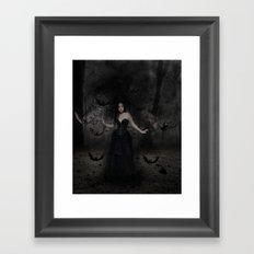 Mistress of the Bats Framed Art Print