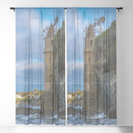Pirate Tower on Victoria Beach Sheer Curtain