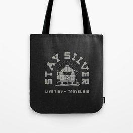 """Stay Silver"" Retro Type (1 color) Tote Bag"