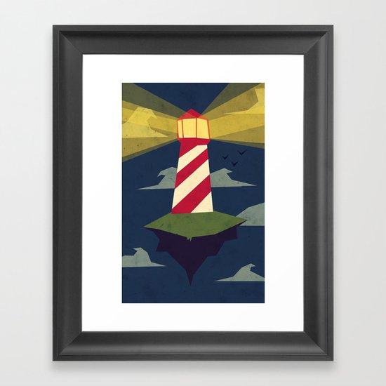 A Light house Framed Art Print