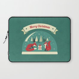 Christmas Foxes Laptop Sleeve