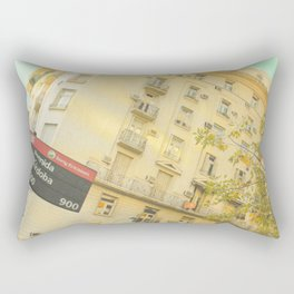 Avenida Córdoba  1000 - 9000 (Retro and Vintage Urban, architecture photography) Rectangular Pillow