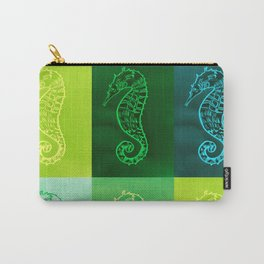 Green Seahorses Carry-All Pouch