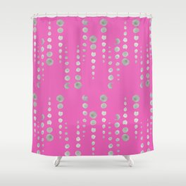 dots in line {HoT PiNk} Shower Curtain