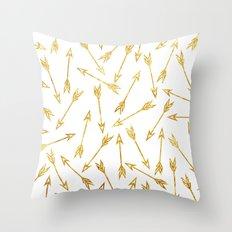 ARROWS : GOLD Throw Pillow