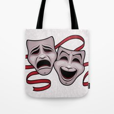 Comedy And Tragedy Theater Masks Tote Bag