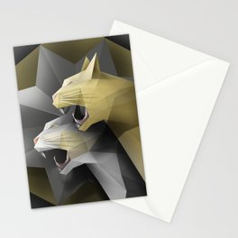 Geometric Cats Stationery Cards