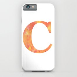 Letter C in warm tones iPhone Case