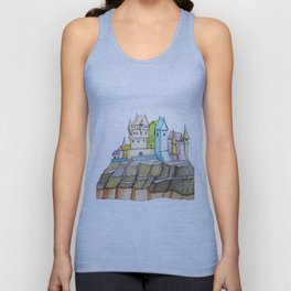fairytale castle on a cliff Unisex Tank Top
