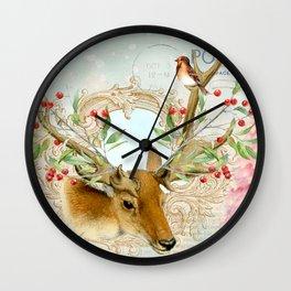 Winter animal #6 Wall Clock