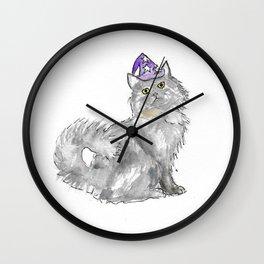 Cat Wizard Wall Clock