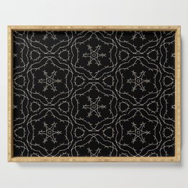 Antique Black and Gold Pattern Design Serving Tray