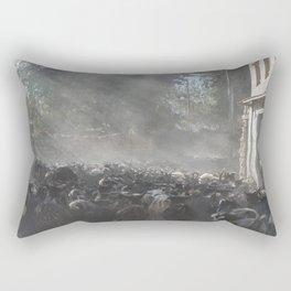 Herd of goats in the sunlight | Travel Photography Fine Art Rectangular Pillow