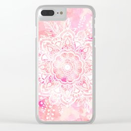 Queen Starring of Mandalas-Rose Clear iPhone Case