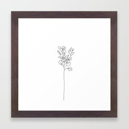 Botanical floral illustration line drawing - Eucalyptus Framed Art Print