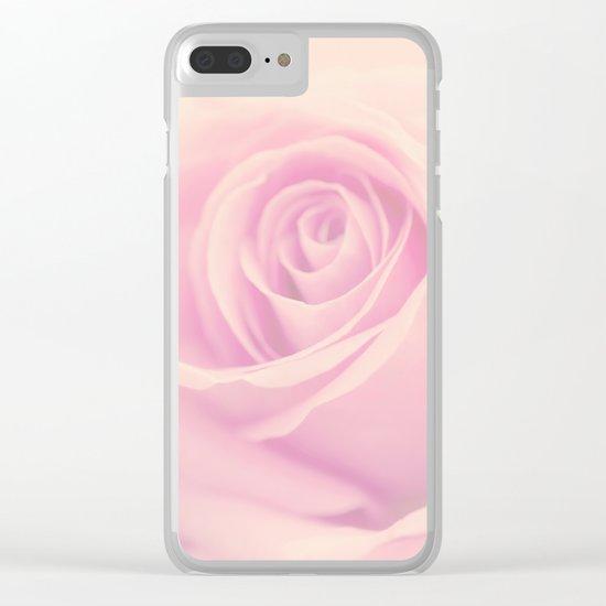 Vintage rose - Beautiful lightpink flower -Roses Clear iPhone Case