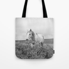 Stormy Walk Horse Photograph Tote Bag