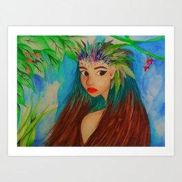 Hummingbird life Art Print