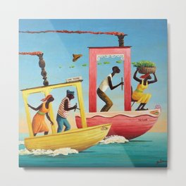 African American Masterpiece 'Course Furieux' by Orville Bulman Metal Print