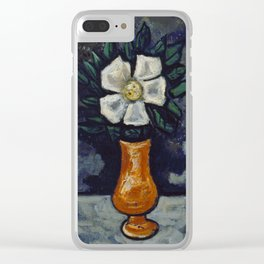 White Flower by Marsden Hartley, 1917 Clear iPhone Case