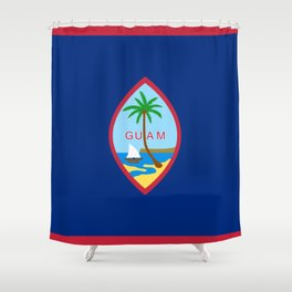 Flag of Guam Shower Curtain