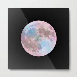Iridescent Dark Moon Metal Print
