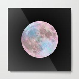 Iridescent Dark Moon Metal Print