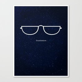 Half Moon Specs Canvas Print