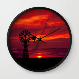 Lovely cove in a remote part of Oahu Island Hawaii Wall Clock