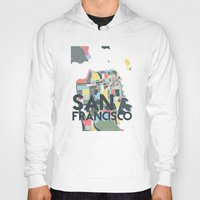 san francisco Hoodies featuring San Francisco. by Studio Tesouro