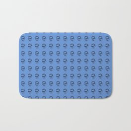 Jeff Goldblum Pattern Blue Bath Mat