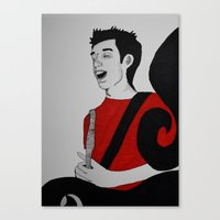 charlie Canvas Prints featuring Charlie by Feral Doe